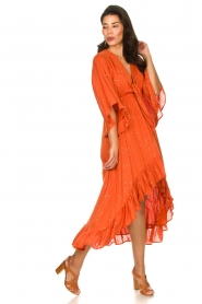 Sundress    Maxi dress with sequins Juliana   orange    Picture 3