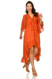 Sundress    Maxi dress with sequins Juliana   orange    Picture 4