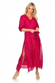 Sundress | Kaftan jurk Halo | roze  | Afbeelding 2