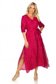 Sundress | Kaftan jurk Halo | roze  | Afbeelding 3