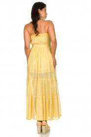 Sundress |  Strapless lurex dress Jonquille | yellow  | Picture 6