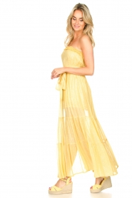 Sundress :  Strapless lurex dress Jonquille | yellow - img5