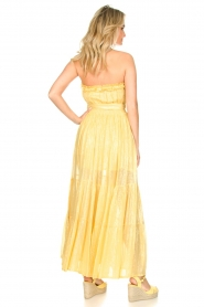 Sundress :  Strapless lurex dress Jonquille | yellow - img6