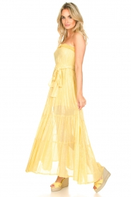 Sundress :  Strapless lurex dress Jonquille | yellow - img2