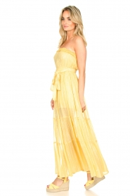 Sundress :  Strapless lurex dress Jonquille | yellow - img4