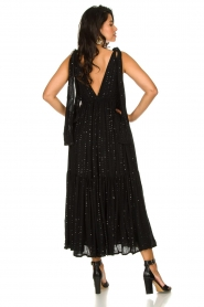 Sundress |  Sequin maxi dress Fanya | black  | Picture 5