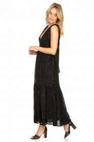 Sundress |  Sequin maxi dress Fanya | black  | Picture 4