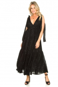 Sundress |  Sequin maxi dress Fanya | black  | Picture 3