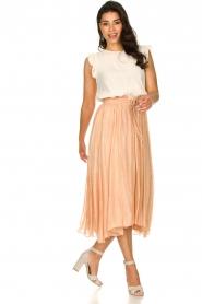 Sundress |  Lurex maxi skirt Lulu | nude  | Picture 3