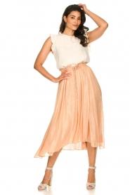 Sundress |  Lurex maxi skirt Lulu | nude  | Picture 2