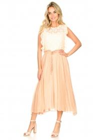 Sundress |  Lurex maxi skirt Lulu | nude  | Picture 5