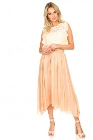 Sundress |  Lurex maxi skirt Lulu | nude  | Picture 4