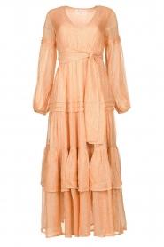 Sundress |  Lurex maxi dress Estelle | nude  | Picture 1