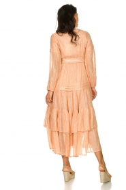 Sundress |  Lurex maxi dress Estelle | nude  | Picture 5