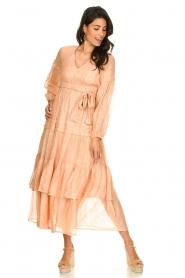 Sundress |  Lurex maxi dress Estelle | nude  | Picture 3