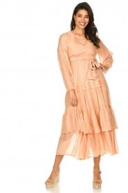 Sundress |  Lurex maxi dress Estelle | nude  | Picture 2