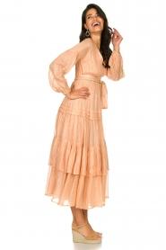 Sundress |  Lurex maxi dress Estelle | nude  | Picture 4