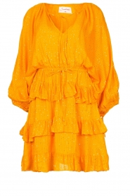 Sundress |  Lurex ruffle dress Mimosa | yellow  | Picture 1