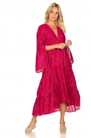 Sundress |  Maxi dress Claudia Long | pink  | Picture 3