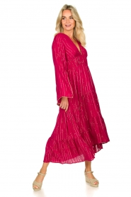 Sundress |  Maxi dress Claudia Long | pink  | Picture 4