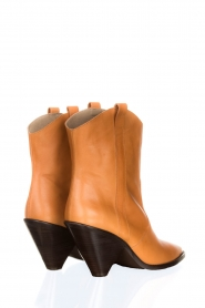 Toral |  Leather boots Triangle | camel  | Picture 4