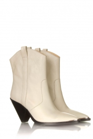 Toral :  Leather boots Eliseo | kalk - img3