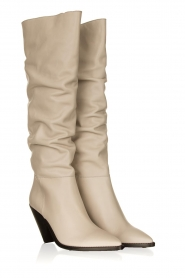 Toral |  Leather boots Elisio | chalk   | Picture 4