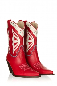 Toral |  Leather cowboy boots Savanah | red  | Picture 3