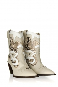 Toral | Leather cowboy boots Kidima | natural  | Picture 3