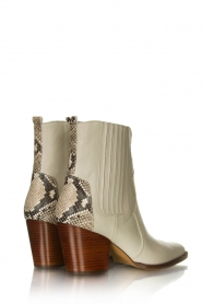 Toral |   Snake printed western boots Kidima | naturel  | Picture 4