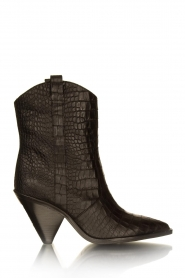 Toral | Short leather boots with crocodile pattern Oslo | black  | Picture 2