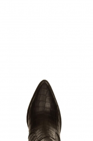 Toral |  Short leather boots with crocodile pattern Oslo | black  | Picture 6