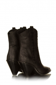 Toral |  Short leather boots with crocodile pattern Oslo | black  | Picture 5