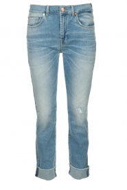 7 For All Mankind |  Fringed jeans Relaxed skinny | blue  | Picture 1