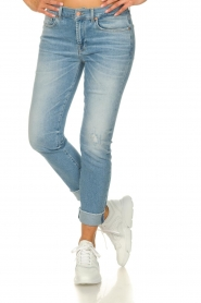 7 For All Mankind |  Fringed jeans Relaxed skinny | blue  | Picture 2