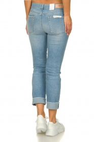 7 For All Mankind |  Fringed jeans Relaxed skinny | blue  | Picture 5