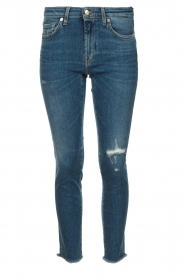 7 For All Mankind |  Ripped jeans Pyper crop | dark blue  | Picture 1