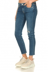 7 For All Mankind |  Ripped jeans Pyper crop | dark blue  | Picture 5