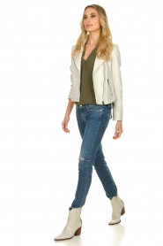 7 For All Mankind |  Ripped jeans Pyper crop | blue  | Picture 3