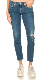 7 For All Mankind |  Ripped jeans Pyper crop | dark blue  | Picture 2