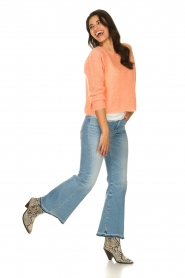 7 For All Mankind |  Fringed flared jeans Flare Crop | blue  | Picture 3
