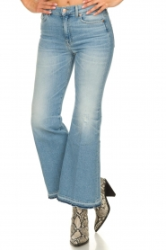 7 For All Mankind |  Fringed flared jeans Flare Crop | blue  | Picture 2