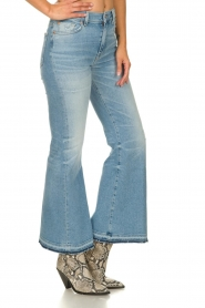 7 For All Mankind |  Fringed flared jeans Flare Crop | blue  | Picture 4