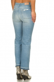 7 For All Mankind |  Fringed flared jeans Flare Crop | blue  | Picture 5