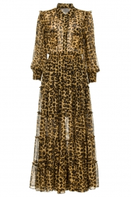 Misa Los Angeles |  Maxi dress with leopard print Aydeniz | animalprint   | Picture 1