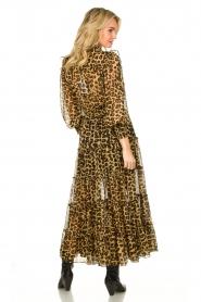 Misa Los Angeles |  Maxi dress with leopard print Aydeniz | animalprint   | Picture 5