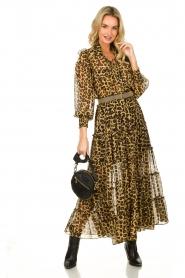Misa Los Angeles |  Maxi dress with leopard print Aydeniz | animalprint   | Picture 3