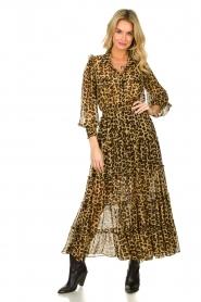 Misa Los Angeles |  Maxi dress with leopard print Aydeniz | animalprint   | Picture 2