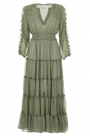 Misa Los Angeles |  Maxi dress with ruffles Hayeda | green  | Picture 1