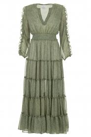 Misa Los Angeles | Maxi jurk met ruches Hadeya | groen   | Afbeelding 1
